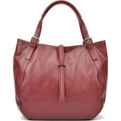 Torebki i plecaki damskie: Skórzana torebka w kolorze bordowym – (S)30 x (W)45 x (G)13 cm