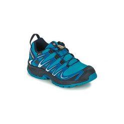 Buty Dziecko Salomon  XA PRO 3D CSWP J. Szare buty sportowe chłopięce marki Salomon, z gore-texu, na sznurówki, outdoorowe, gore-tex. Za 292,71 zł.