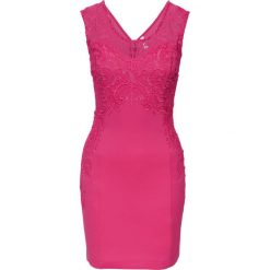 Sukienki: Sukienka na party z koronką bonprix ciemnoróżowy