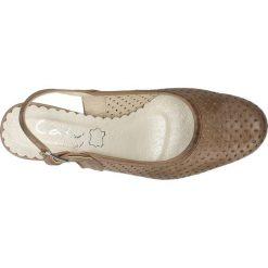 CZÓŁENKA CASU 091. Szare buty ślubne damskie Casu, na koturnie. Za 99,99 zł.