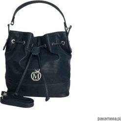 Torebki worki: MANZANA stylowy worek torebka – granatowy