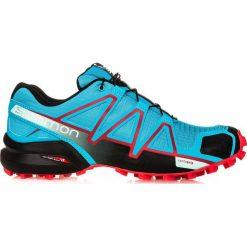 Salomon Buty damskie Speedcross 4 W Blue Jay/Black/Infrared r. uniwersalny. Czarne buty sportowe damskie marki Salomon, z gore-texu, na sznurówki, outdoorowe, gore-tex. Za 316,58 zł.