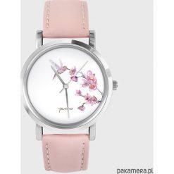 Zegarek, bransoletka - Koliber - pudrowy róż. Czerwone bransoletki damskie z cyrkoniami Pakamera. Za 139,00 zł.