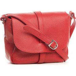 Torebki klasyczne damskie: Skórzana torebka w kolorze czerwonym – 24 x 20 x 10 cm