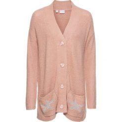 Sweter rozpinany bonprix stary jasnoróżowy melanż. Szare kardigany damskie marki Mohito, l. Za 49,99 zł.