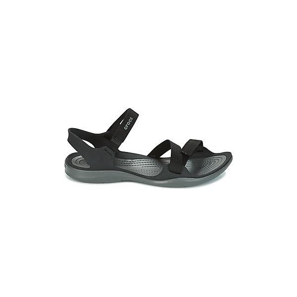 f85c729dd79c1 Sandały Crocs SWIFTWATER WEBBING SANDAL W - Czarne klapki damskie ...
