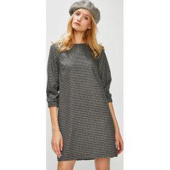 Medicine - Sukienka Hand Made. Szare sukienki mini MEDICINE, na co dzień, m, z bawełny, casualowe, z okrągłym kołnierzem, proste. Za 139,90 zł.