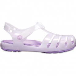 """Sandały """"Isabella"""" w kolorze fioletowym. Fioletowe sandały dziewczęce marki Crocs, z paskami. W wyprzedaży za 68,95 zł."""