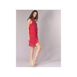 Sukienki krótkie Desigual  DORIJE. Czerwone sukienki mini marki Desigual, z krótkim rękawem. Za 299,30 zł.