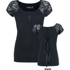 Gothicana by EMP Eternally Yours Koszulka damska czarny. Czarne bluzki koronkowe marki bonprix. Za 99,90 zł.