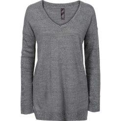 Sweter z dużym dekoltem w serek bonprix szary melanż. Szare swetry klasyczne damskie bonprix, z dekoltem w serek. Za 59,99 zł.