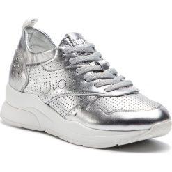 Sneakersy LIU JO - Karlie 14 B19009 P0291 Silver 00532. Szare sneakersy damskie Liu Jo, ze skóry. Za 799,00 zł.