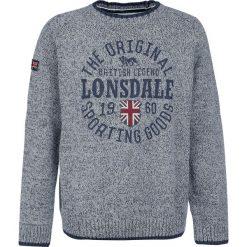 Lonsdale London Borden Bluza szary. Szare bluzy męskie rozpinane marki Lonsdale London, m, z aplikacjami, prążkowane. Za 244,90 zł.