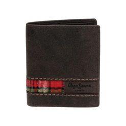 Portfele męskie: Skórzany portfel w kolorze brązowym – (S)8,5 x (W)11,5 x (G)1 cm