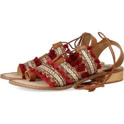 """Sandały damskie: Skórzane sandały """"Tixae"""" w kolorze czerwonym"""