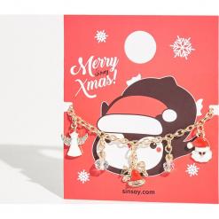 Świąteczna bransoletka - Beżowy. Brązowe bransoletki damskie Sinsay. Za 14,99 zł.