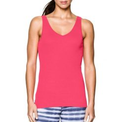 Topy sportowe damskie: Under Armour Koszulka damska Double Threat Tank Under Armour Pink Shock r. M (1253915683)