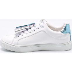Pepe Jeans - Tenisówki dziecięce. Szare buty sportowe dziewczęce Pepe Jeans, z jeansu, na sznurówki. W wyprzedaży za 199,90 zł.