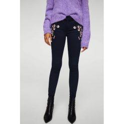 Mango - Jeansy Kimb. Czarne jeansy damskie marki Mango, z bawełny. W wyprzedaży za 69,90 zł.