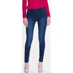 Spodnie damskie: SPODNIE DŁUGIE DAMSKIE, JEANSOWE RURKI PUSHUP