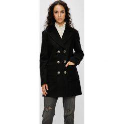 Silvian Heach - Płaszcz. Czarne płaszcze damskie marki Silvian Heach, l, z materiału, klasyczne. W wyprzedaży za 599,90 zł.