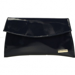 Torebka - K63242 V NAVY. Niebieskie torebki klasyczne damskie Venezia, ze skóry. Za 249,00 zł.
