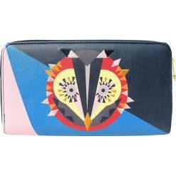 """Portfele damskie: Portfel """"Dakota Owl"""" w kolorze niebieskim ze wzorem – 20 x 5 x 12,5 cm"""