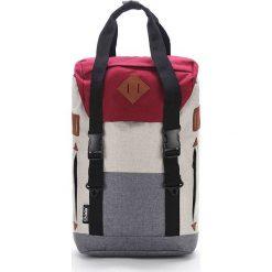 Plecaki męskie: Plecak w kolorze szaro-czerwonym – 33 x 56 x 18 cm