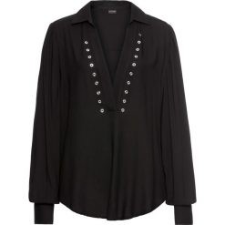 Bluzka z oczkami bonprix czarny. Czarne bluzki z odkrytymi ramionami bonprix. Za 119,99 zł.