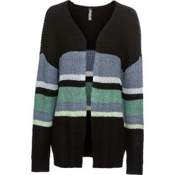 """Sweter bez zapięcia """"oversize"""" bonprix czarny. Czarne swetry oversize damskie bonprix. Za 109,99 zł."""