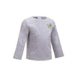 Bluza 100 Gym. Szare bluzy dziewczęce rozpinane marki DOMYOS, z elastanu, z kapturem. W wyprzedaży za 18,99 zł.