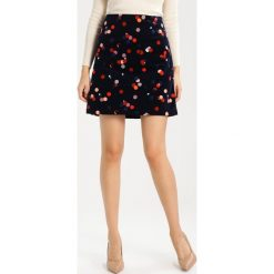 Minispódniczki: White Stuff LENA PRINT VELVET  Spódnica trapezowa dark blue