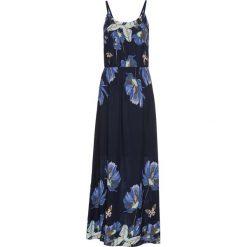 Długie sukienki: Długa sukienka z nadrukiem bonprix ciemnoniebieski wzorzysty