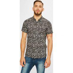 Premium by Jack&Jones - Koszula. Szare koszule męskie na spinki Premium by Jack&Jones, l, z bawełny, z klasycznym kołnierzykiem, z krótkim rękawem. W wyprzedaży za 99,90 zł.