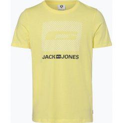 Jack & Jones - T-shirt męski – Comirko, żółty. Czarne t-shirty męskie z nadrukiem marki Jack & Jones, l, z bawełny, z klasycznym kołnierzykiem, z długim rękawem. Za 39,95 zł.