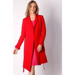 Płaszcz w kolorze czerwonym. Zielone płaszcze damskie marki Last Past Now, xs, w paski. W wyprzedaży za 239,95 zł.