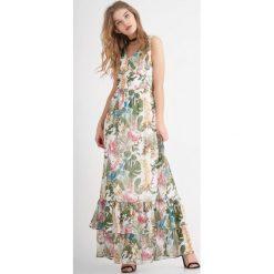 Długie sukienki: Sukienka maxi z falbaną