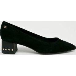 Tommy Hilfiger - Czółenka. Czarne buty ślubne damskie marki TOMMY HILFIGER, z materiału, na szpilce. Za 549,90 zł.