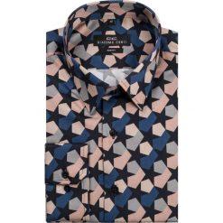 Koszula SIMONE KDWS000137. Szare koszule męskie na spinki Giacomo Conti, na lato, m, z nadrukiem, z bawełny. Za 199,00 zł.