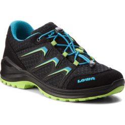 Buty dziecięce: Trekkingi LOWA - Maddox Lo Junior 650779 Black/Lime 9903