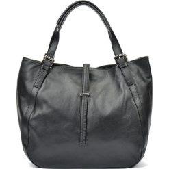 Torebki i plecaki damskie: Skórzana torebka w kolorze czarnym – (S)30 x (W)45 x (G)13 cm