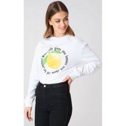 Bluzy rozpinane damskie: Rut&Circle Bluza Lemon - White