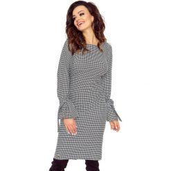 Odzież damska: SOLEO uniwersalna i bardzo wygodna sukienka pepitka