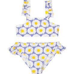 Dwuczęściowy kostium kąpielowy z nadrukiem 3- 12 lat. Szare stroje dwuczęściowe dziewczęce La Redoute Collections, w kwiaty, z poliamidu. Za 35,24 zł.