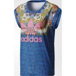 Adidas Originals Koszulka damska Borbomix niebieska r. 36 (BR5163). Szare topy sportowe damskie marki adidas Originals, na co dzień, z nadrukiem, z bawełny, casualowe, z okrągłym kołnierzem, proste. Za 139,90 zł.