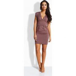 Sukienki hiszpanki: Kobieca seksowna sukienka bez rękawów capucino
