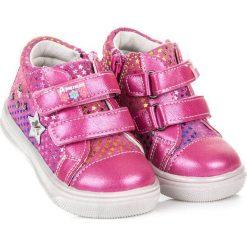 Buciki niemowlęce: American Club Buty dziecięce w gwiazdki FREYA różowe r. 24 (72739)
