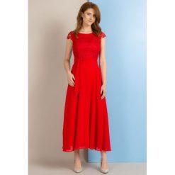 Długie sukienki: Sukienka maxi z koronkowym karczkiem