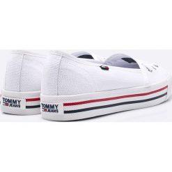 Tommy Jeans - Tenisówki. Szare tenisówki damskie marki Tommy Jeans, z jeansu. W wyprzedaży za 219,90 zł.