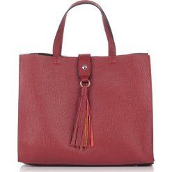 Torebki klasyczne damskie: Skórzana torebka w kolorze bordowym – (S)26 x (W)23 x (G)16 cm